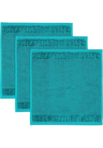Möve Waschlappen »MÖVE Bamboo Luxe 3er Set Waschhandschuh«, (3 tlg.), mit seidig... kaufen