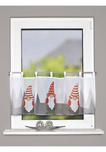 HOME WOHNIDEEN Scheibengardine »IMPALO«, Schlaufencafehaus Voile digital bedruckt kaufen