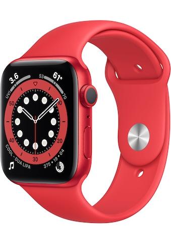 Apple Watch »Series 6 GPS, Aluminiumgehäuse mit Sportarmband 44mm«, (Watch OS 6 inkl.... kaufen