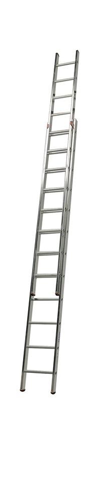 KRAUSE Schiebeleiter »Fabilo«, zweiteilig | Baumarkt > Leitern und Treppen > Schiebeleiter | Silberfarben | Aluminium | KRAUSE
