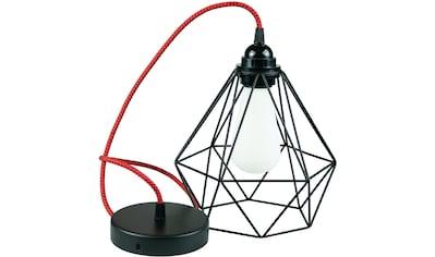 SEGULA Hängeleuchte »Pendelleuchte Diamant Schwarz Metall, Textilkabel rot-schwarz«,... kaufen