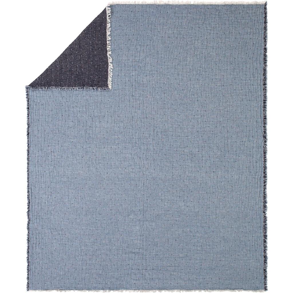 Estella Wohndecke »Levanto«, mit Crinkle-Effekt