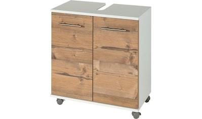 Schildmeyer Waschbeckenunterschrank »Palermo«, Breite 60 cm, mit Metallgriffen, verstellbarer Einlegeboden, auf Rollen kaufen
