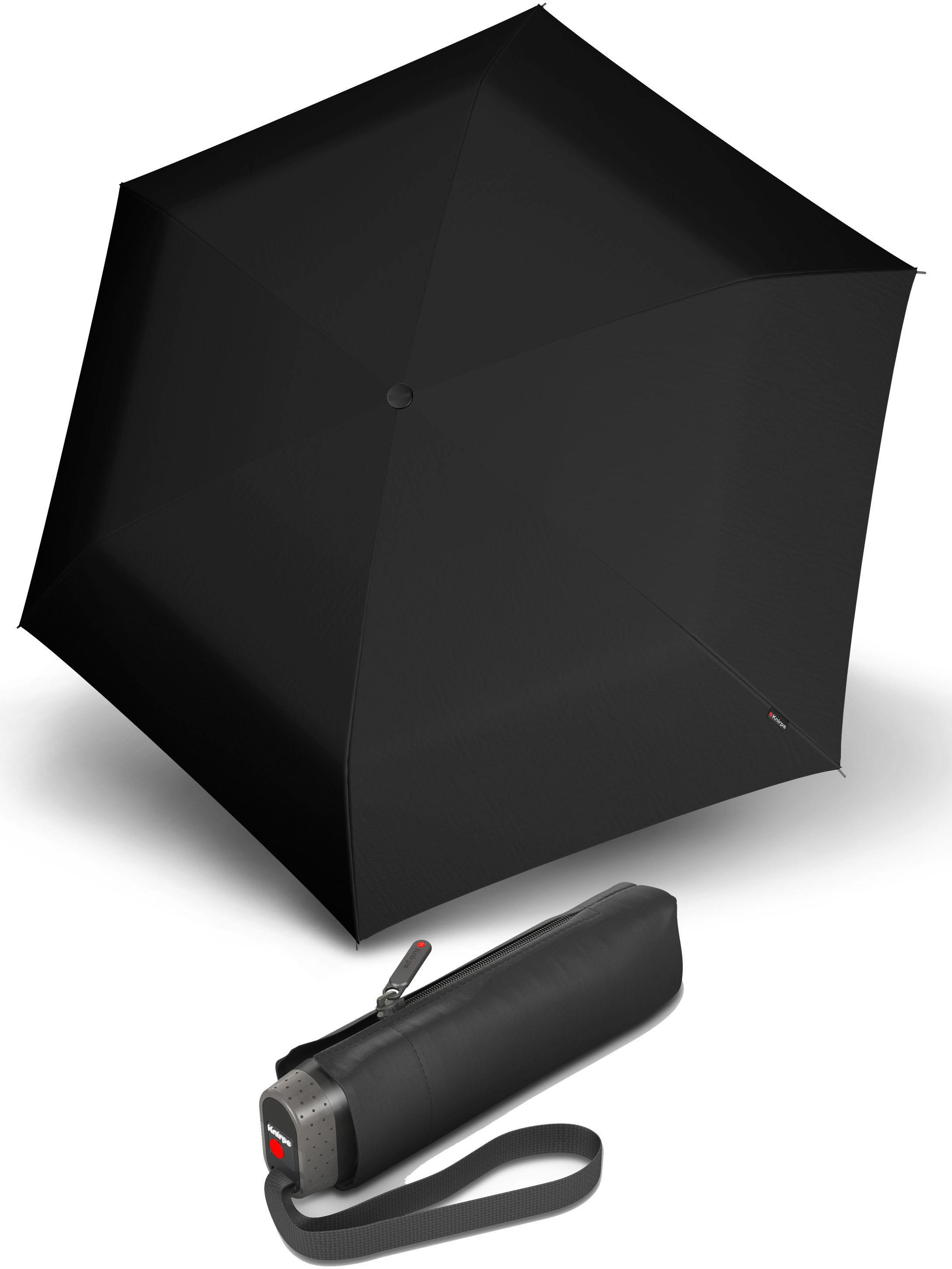 Knirps® Regenschirm - Taschenschirm, »TS.010 Slim Small Manual black« | Accessoires > Regenschirme | Schwarz | KNIRPS