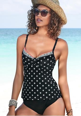 LASCANA Bügel-Tankini-Top »Kimer«, mit modernem Print kaufen