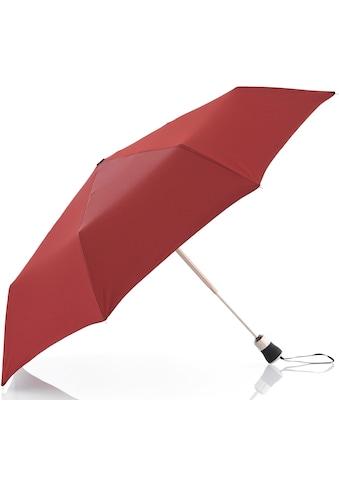 doppler MANUFAKTUR Taschenregenschirm »Oxford Uni, rot«, handgemachter... kaufen