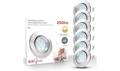 B.K.Licht LED Einbauleuchte »Hila«, GU10, 6 St., Warmweiß, LED Einbaustrahler schwenkbar inkl. 3W 250 Lumen GU10 3.000K 6er SET kaufen