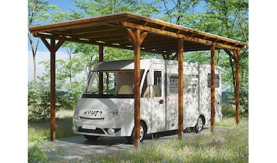 Skanholz Einzelcarport »Caravan-Emsland«, Leimholz-Nordisches Fichtenholz, 341 cm, braun kaufen