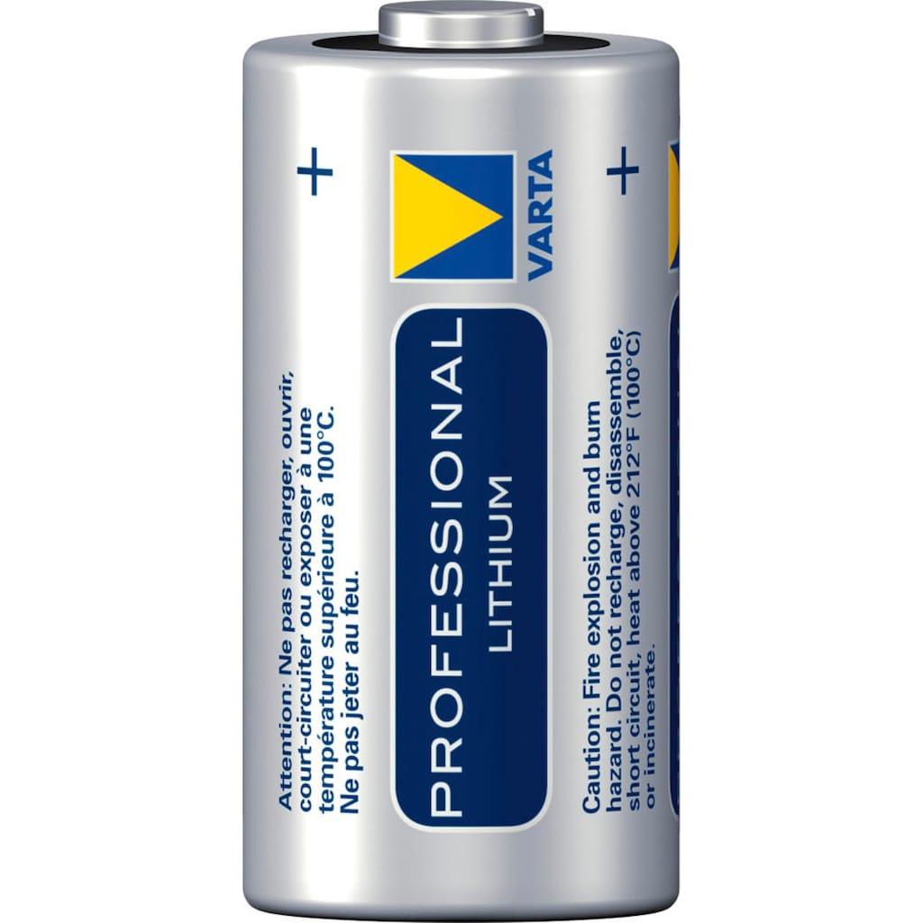 VARTA Batterie »Professional Lithium Spezial Batterie CR123A,CR17345 2er Pack«, 3 V, (2 St.)