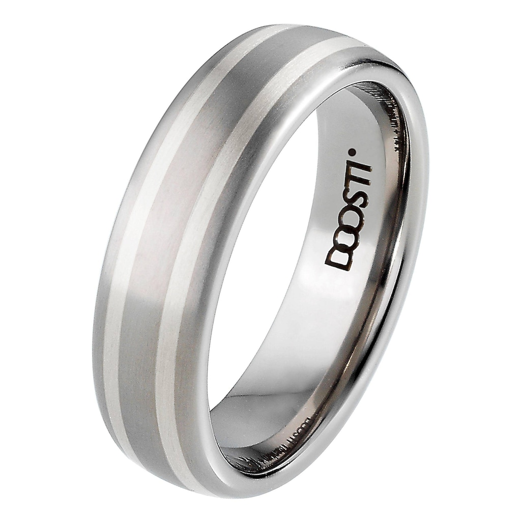 DOOSTI Trauring »TS-02-D, TS-02-H, SILVER WAY«, Made in Germany - wahlweise mit oder ohne Zirkonia