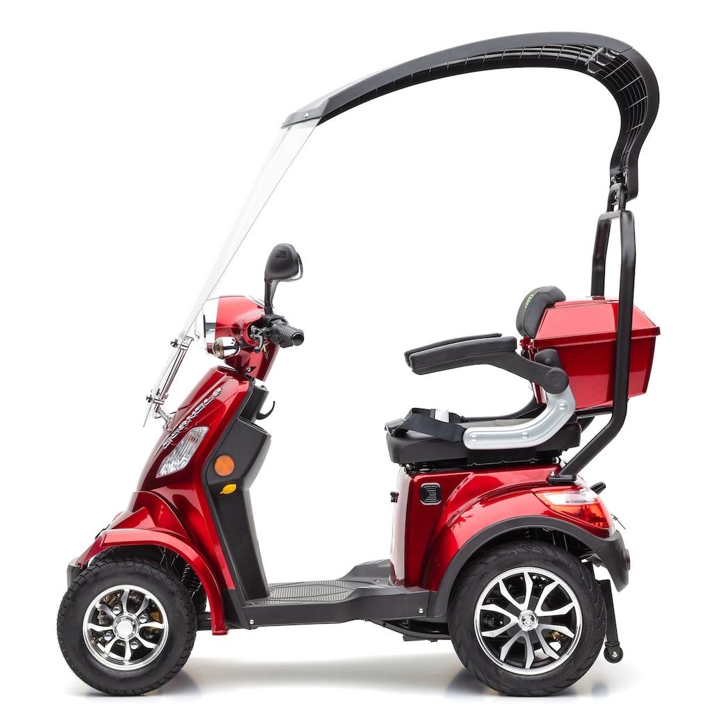 ECONELO Elektromobil »JD 4000 braun«, 1000 W, 25 km/h, (mit Topcase)