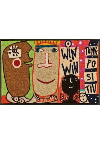 wash+dry by Kleen-Tex Fußmatte »Think Positiv«, rechteckig, 7 mm Höhe,... kaufen