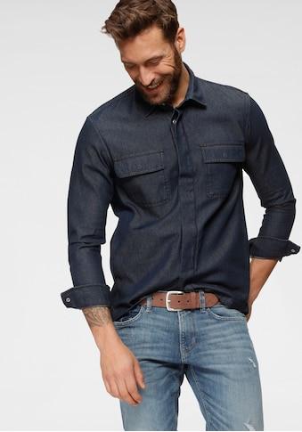 TOM TAILOR Denim Langarmhemd, mit Brusttaschen kaufen