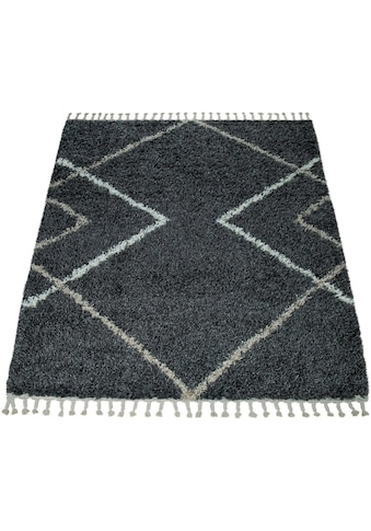 Hochflor - Teppich, »Helsinki 530«, Paco Home, rechteckig, Höhe 45 mm, maschinell gewebt kaufen