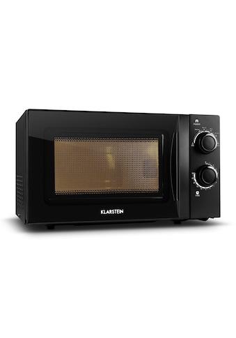 Klarstein Mikrowellen-Ofen schwarz mit Drehteller 20L 700W kaufen