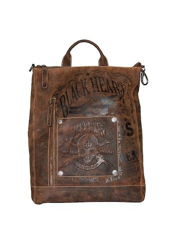 JACK'S INN 54 Cityrucksack »Rob Roy«, aus Leder, als Rucksack oder Umhängetasche tragbar kaufen