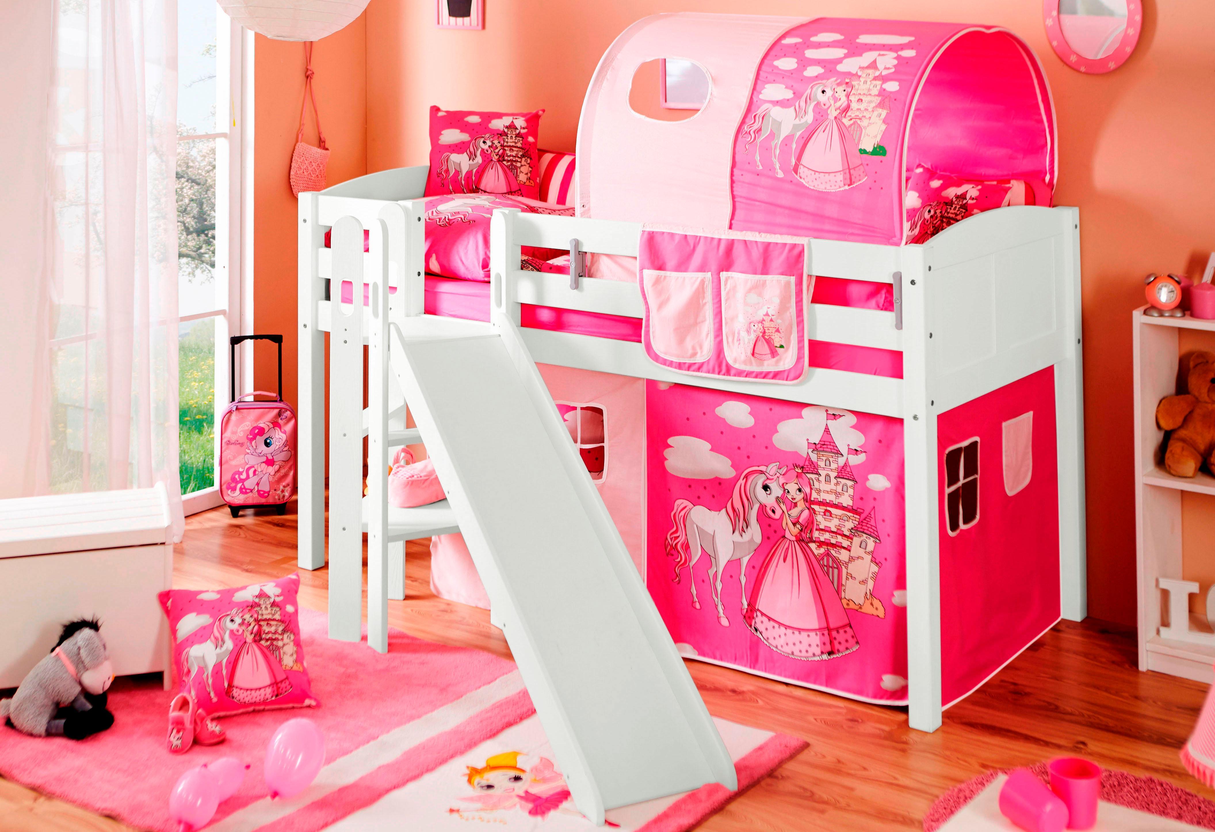ticaa hochbett mit textilset und matratze kiefer lino moebel suchmaschine. Black Bedroom Furniture Sets. Home Design Ideas