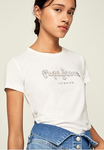 Pepe Jeans Print-Shirt »ASTRID«, mit auffälligem Marken-Logo-Schriftzug aus... kaufen