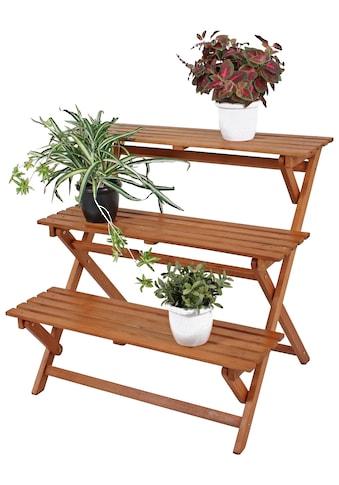 GARDEN PLEASURE Rankhilfe , klappbar, Eukalyptusholz, braun kaufen