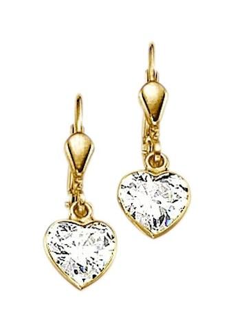 Firetti Paar Ohrhänger »Herz, romantisch glänzend« kaufen