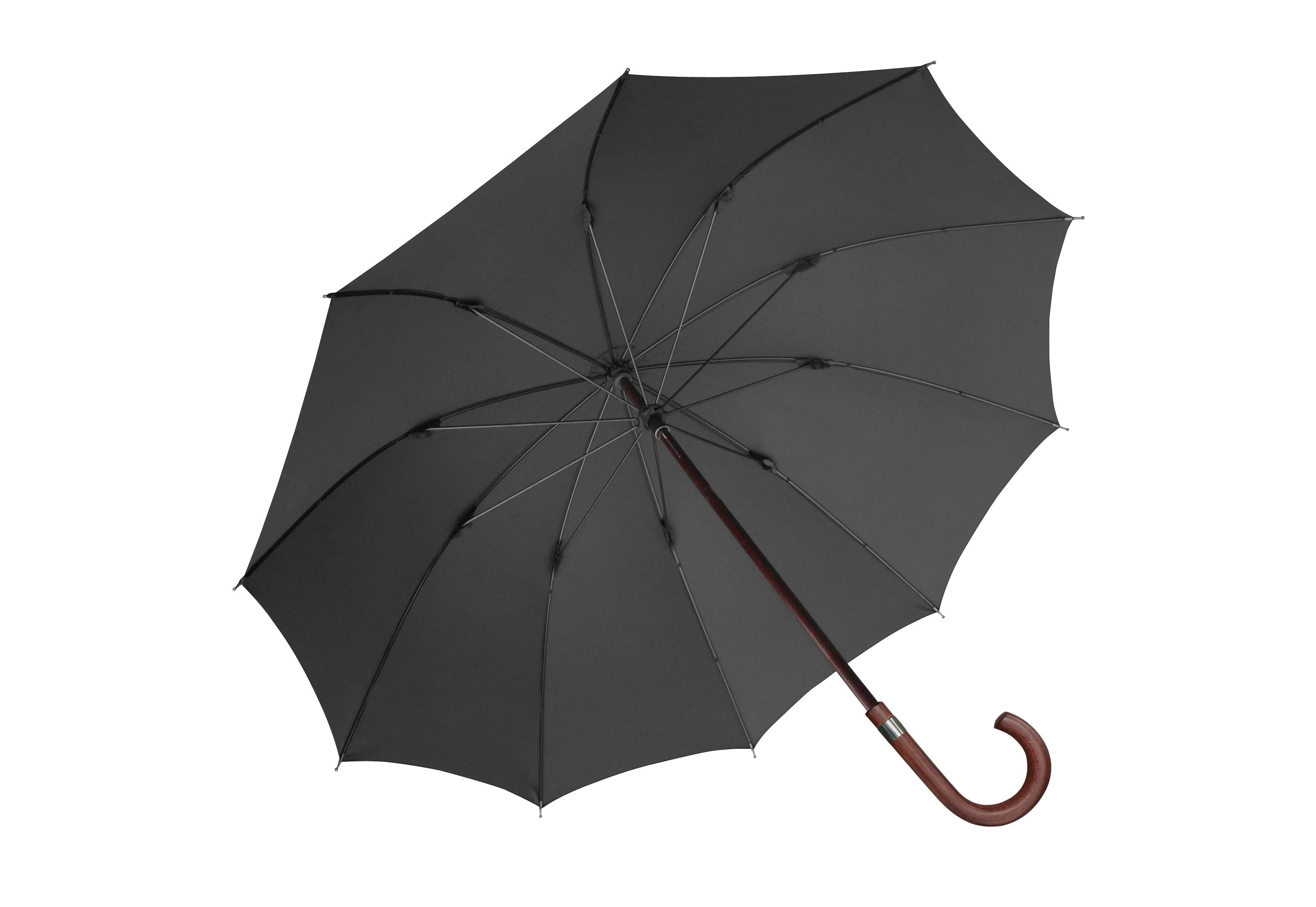 Euroschirm, Stockregenschirm ´´Herren-Stockschirm´´ | Accessoires > Regenschirme > Stockschirme | Schwarz | Polyester | EUROSCHIRM®
