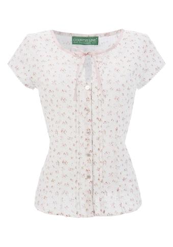 Country Line Trachtenbluse Damen mit Zierband  am Ausschnitt kaufen