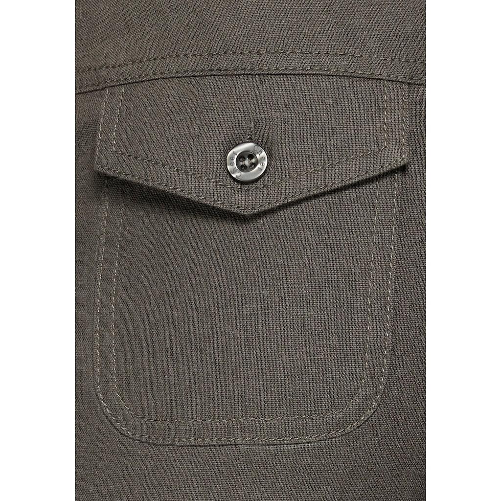 Aniston CASUAL Leinenhose, mit Bindeband