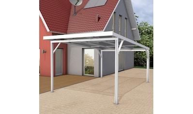 GUTTA Einzelcarport »Premium«, Aluminium, 293,4 cm, weiß, BxT: 309x562 cm, Dacheindeckung Acryl klar kaufen
