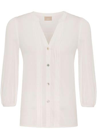 Mexx Klassische Bluse, mit Struktur-Muster und Biesen kaufen