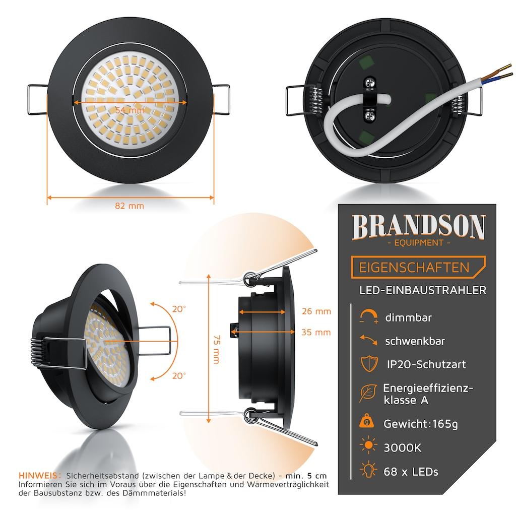 Brandson LED Deckenspots dimmbar & schwenkbar