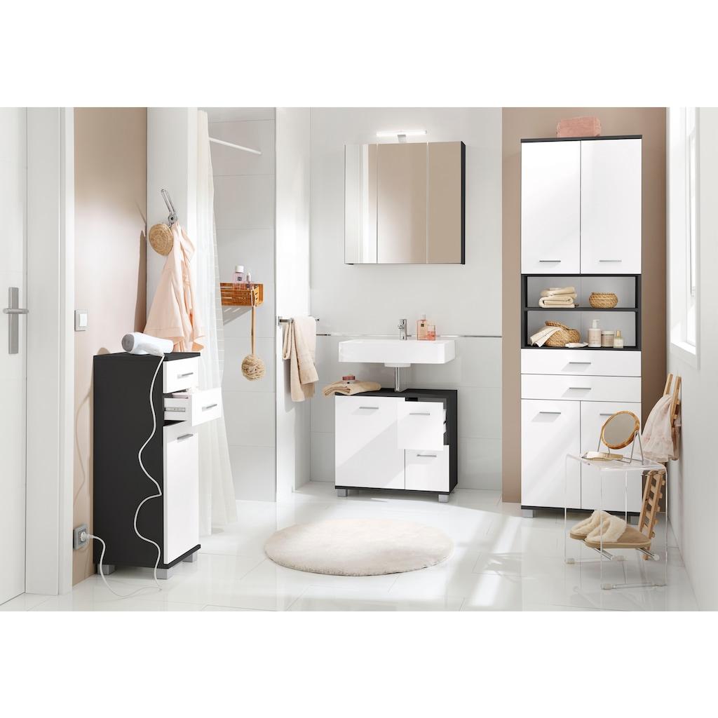 Schildmeyer Unterschrank »Lagona«, Breite 30,3 cm, wechselbarer Türanschlag, Metallgriffe, verstellbarer Einlegeboden, 2 Schubladen
