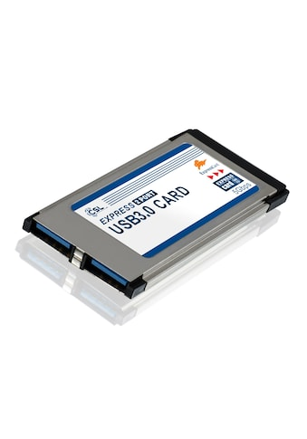 CSL 2 Port USB 3.0 ExpressCard PCMCIA Schnittstellenkarte 34mm »2x USB 3.0 Buchse Typ A« kaufen