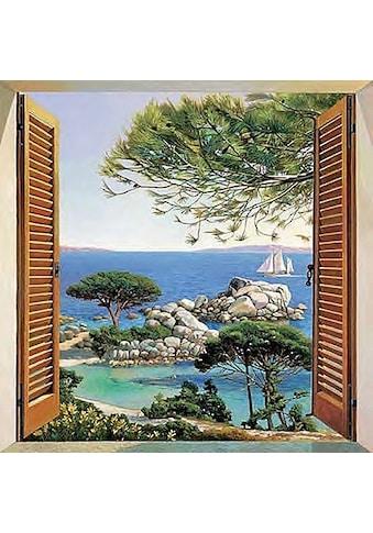 Home affaire Deco - Panel »A. D. Missier  -  Finestra sul Mediterraneo« kaufen