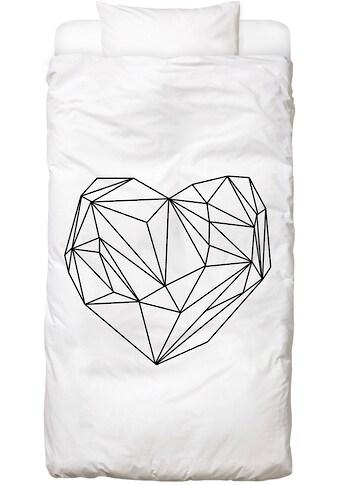 Juniqe Bettwäsche »Heart Graphic«, In vielen weiteren Designs erhältlich kaufen