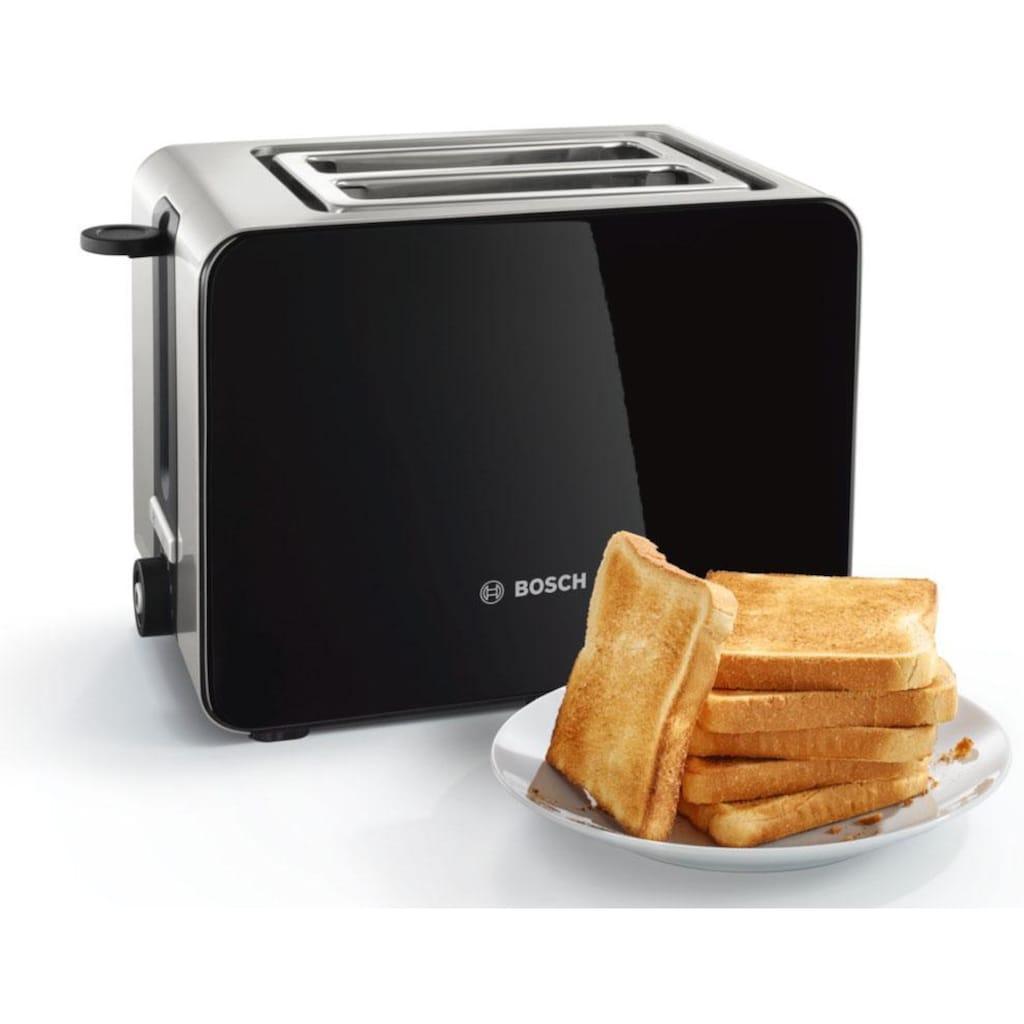BOSCH Toaster »TAT7203«, 2 kurze Schlitze, für 2 Scheiben, 1050 W, mit Flächenheizung