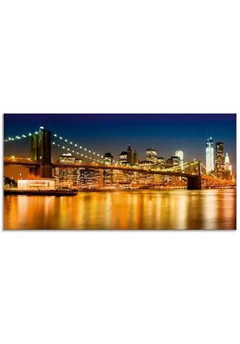 Artland Glasbild »Nächtliche Skyline Manhattan«, Amerika, (1 St.) kaufen