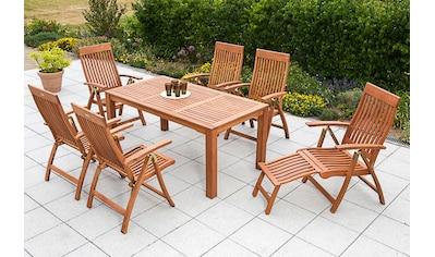MERXX Gartentisch »Bordeaux«, Eukalyptusholz, 170x90 cm, braun kaufen