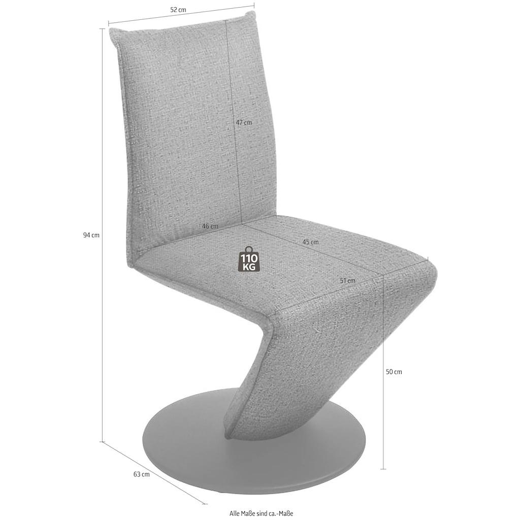 K+W Komfort & Wohnen Drehstuhl »Drive«, Stuhl mit federnder Sitzschale, Drehteller in Metall schwarz Struktur