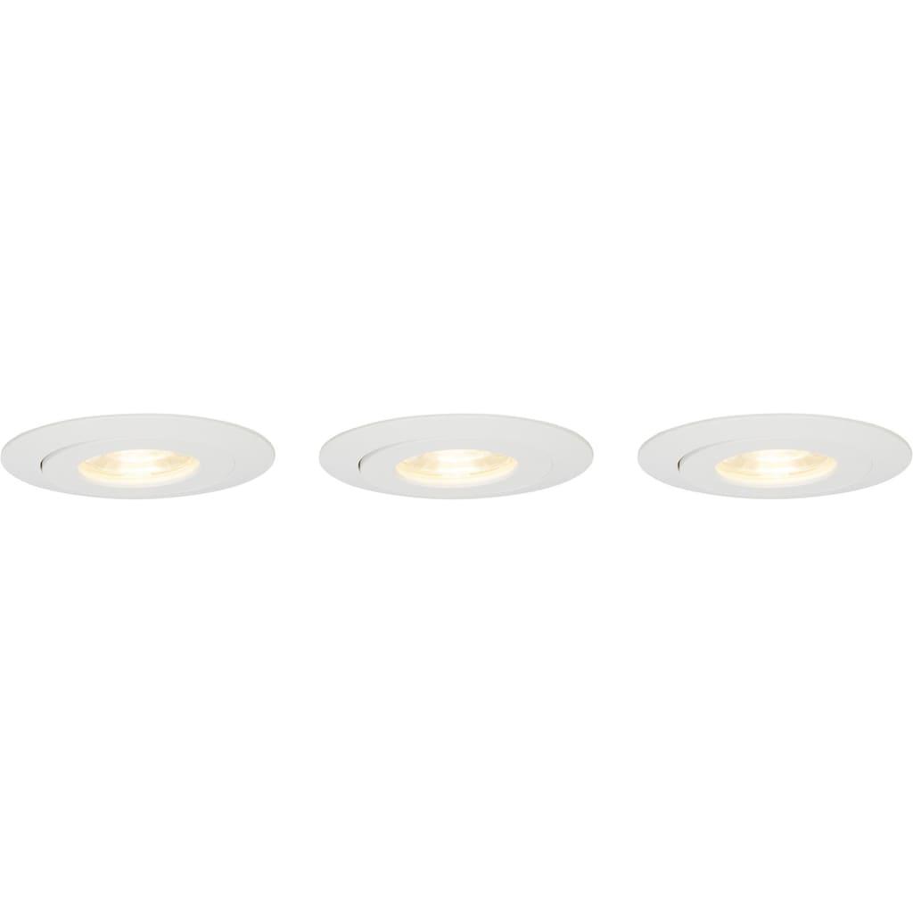 Brilliant Leuchten Nodus LED Einbauleuchtenset 3x schwenkbar weiß/warmweiß