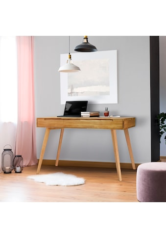 Home affaire Schreibtisch »Albert«, aus massivem Eichenholz, mit vielen... kaufen