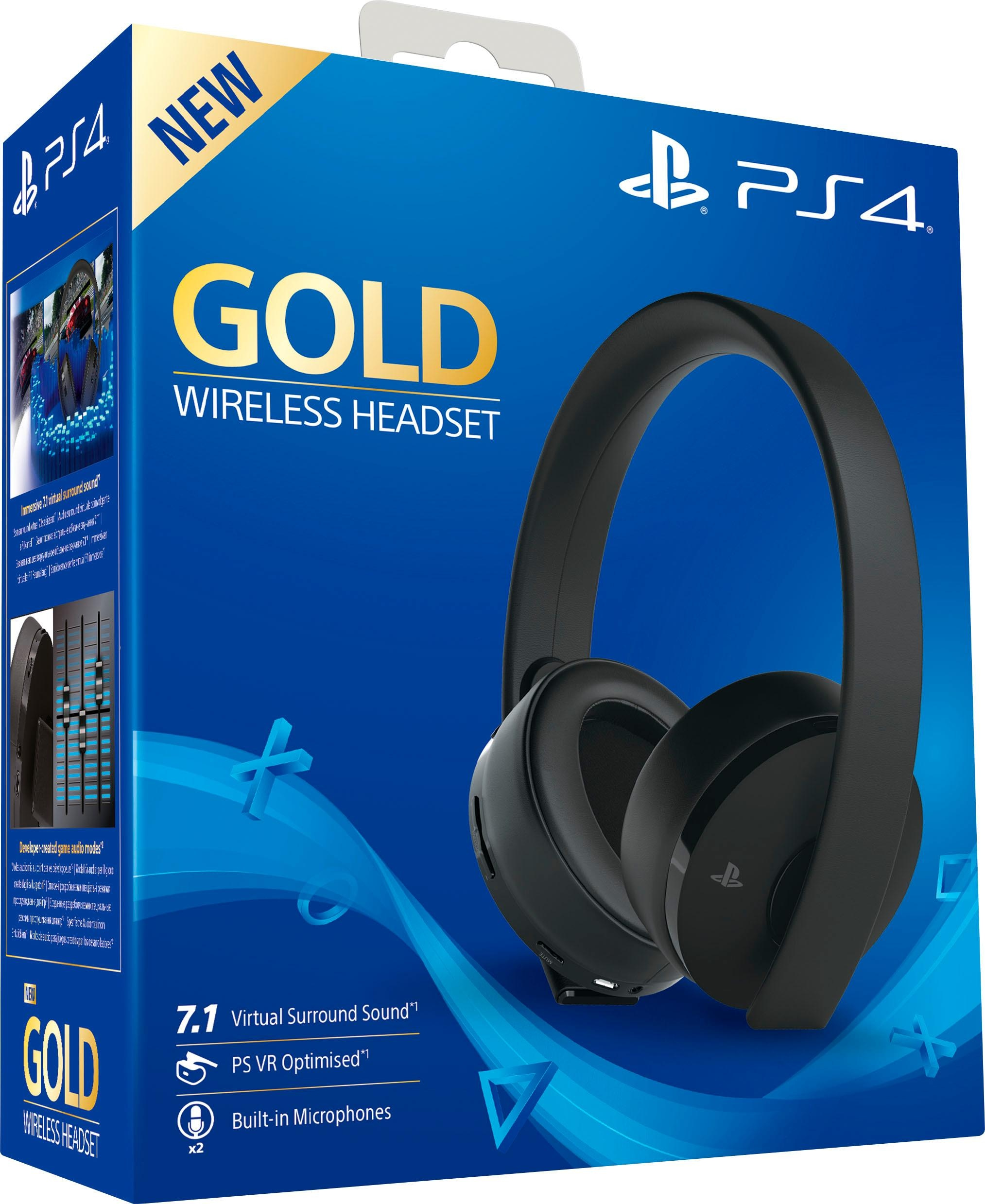playstation 4 gold edition wireless headset funk. Black Bedroom Furniture Sets. Home Design Ideas