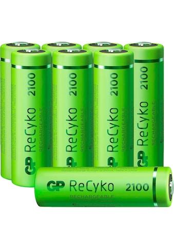 GP Batteries Akku »AA Akku NiMH 2100 mAh ReCyko 1,2V 8 Stück«, Mignon kaufen