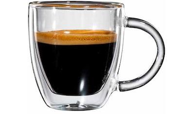 Bloomix Espressoglas »Verona«, (Set, 6 tlg.), doppelwandiges, mundgeblasen, 80 ml,... kaufen