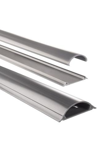 Hama PVC - Kabelkanal, halbrund, 100/7/2,1 cm, einfache Montage »grau« kaufen