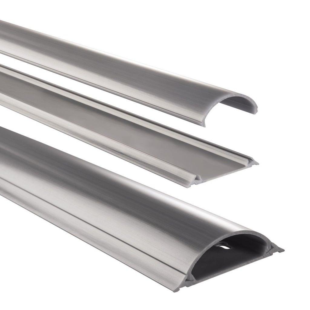 Hama PVC-Kabelkanal, halbrund, 100/7/2,1 cm, einfache Montage