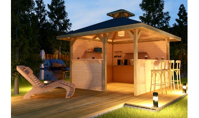 WEKA Pavillon - Set »Gartenoase«, BxT: 380x380 cm kaufen