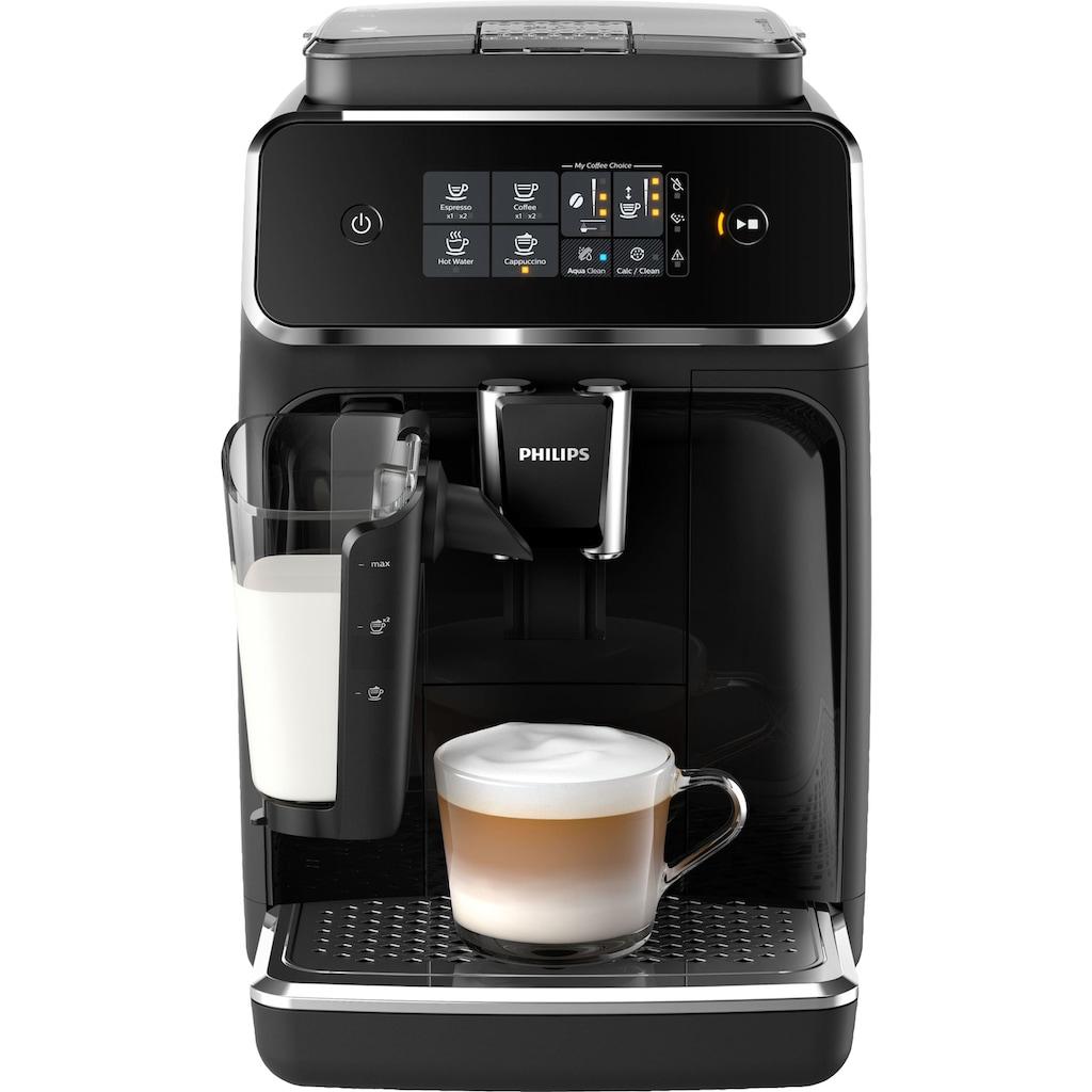 Philips Kaffeevollautomat »2200 Serie EP2231/40 LatteGo, klavierlackschwarz«