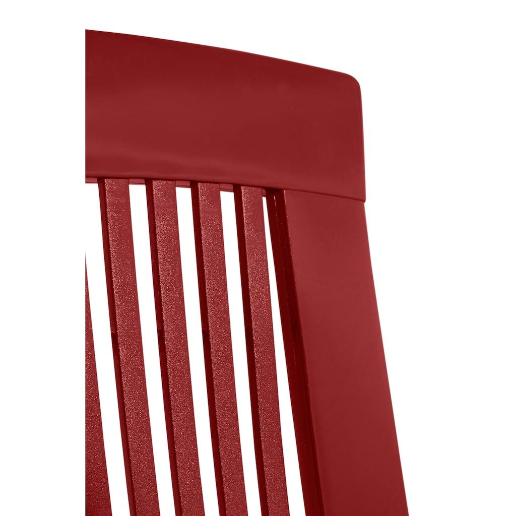 Best Gartenstuhl »Kopenhagen«, Kunststoff, verstellbar, rot, inkl. Auflage