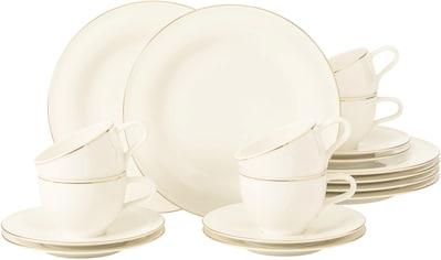 Seltmann Weiden Kaffeeservice »Medina Goldlinie«, (Set, 18 tlg., 6 x Kaffeeobertasse... kaufen