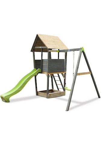 EXIT Spielturm »Aksent«, B/H/T: 320/296/323 cm, Einzelschaukel + Rutsche kaufen